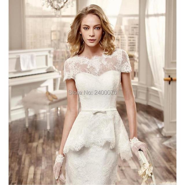 Classy Short Wedding Dress