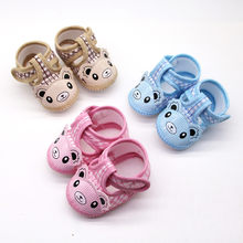Newborn Baby Girls Cartoon Little Bear Prewalker Soft Sole Sandals Single Shoes Girls Princess shoes Sandal(China)