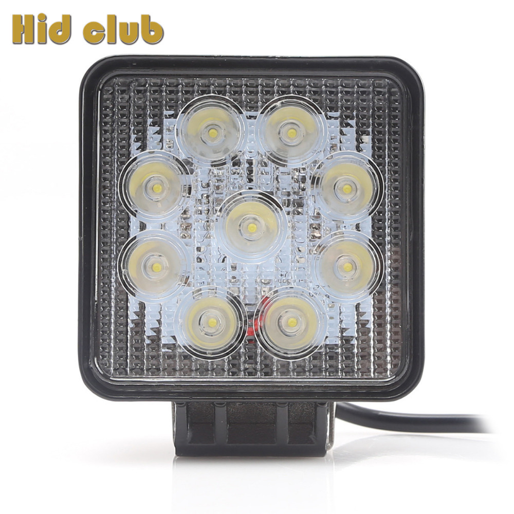 27W 4 Inch Led Work Light 12V IP67 Spot Flood Work Light Bar For Off Road Tractor ATV UTV 4x4 Boating Hunting Car Offroad Lamp