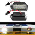 Car styling 2x Error Free led rear license plate light For Ford Fiesta JA8 Focus DA3 Focus DYB S-max C-max Mondeo Kuga auto lamp