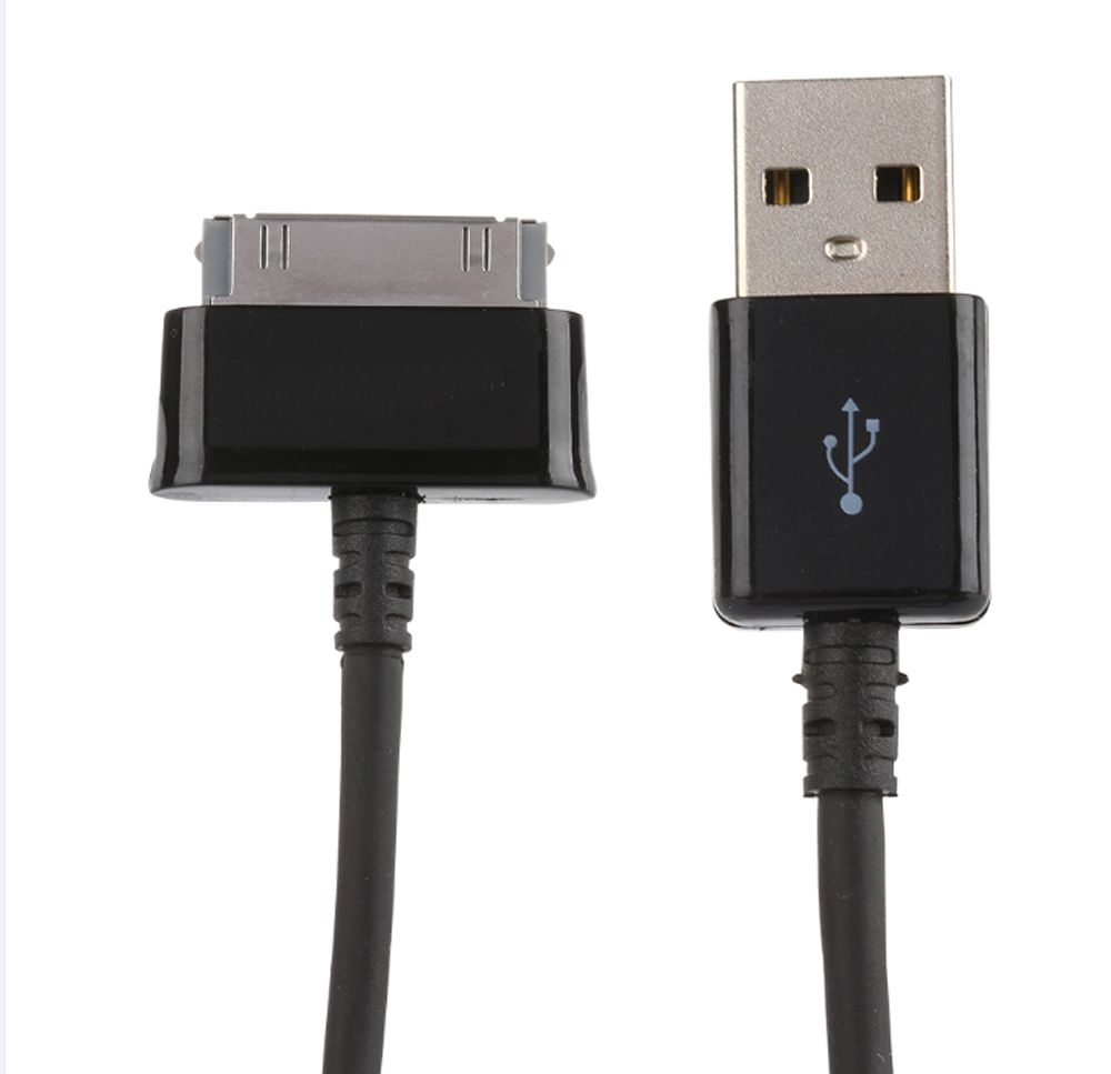 ularmo USB Data Cable Charger For Samsung Galaxy Tab 2 10.1 P5100 P7500 Tablet usb charger data cable charging cord 1m black for samsung galaxy tablet p1000 p3100 p3110 p5100 p5110 p6800 p7300