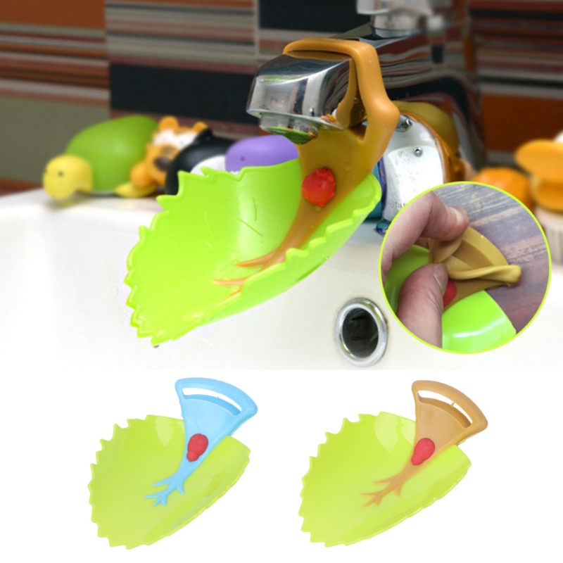 Brand Sink Extension Faucet Leaf Shape Kid Child Washing Hand Water Device Guide