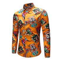 Mens Shirts Big Sizes Spring Summer Men's Long Sleeve Shirt Casual Menswear Men French Cuff Long Sleeves Fit Dress Shirts
