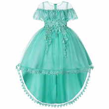 New Year Kids Dresses for Girls Children Wedding Party Flower Girls Princess Birthday Gown Baby Girls Clothes Kids Dress 2019 ircomll girls party dresses kids dress new flower design flower appliqued a line princess costume for girls wedding birthday