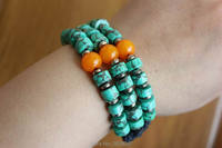 BR436 Tibetan Jewelry Hand Knotted 3 Layers Stone Beaded Bracelets Bohemia Girls Bracelet Wholesale Nepal Jewelry