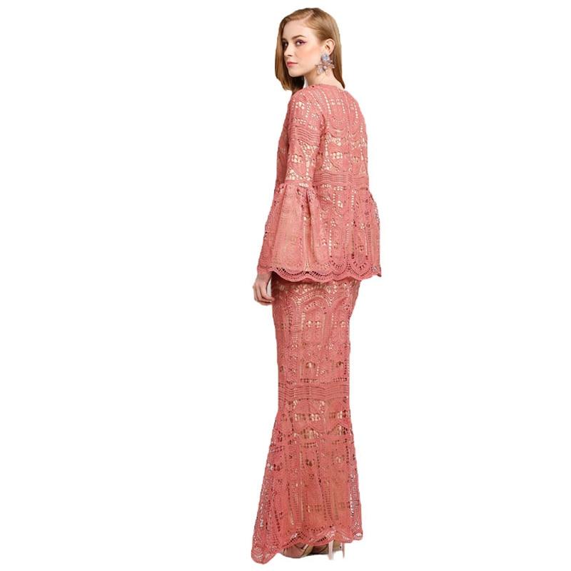 Advanced Customization Wholesale 2018 Hot Selling Muslim Lace Dress Islamic Women  Clothing Baju Kurung No Stock MOQ 100PCS-in Dresses from Women s Clothing  ... ef650ec61463