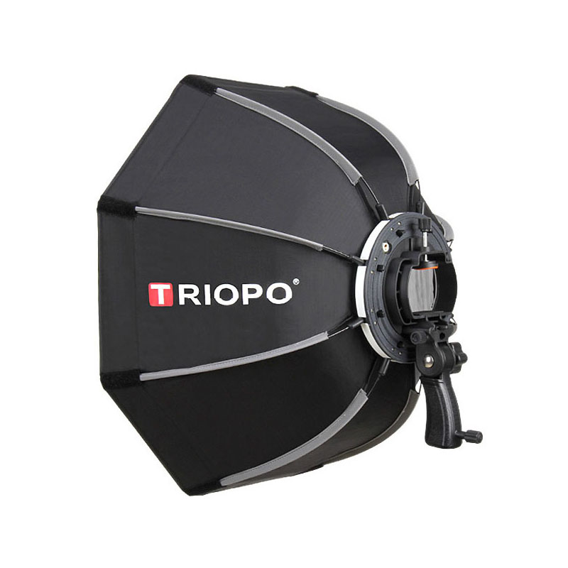 TRIOPO 90 см восьмиугольный зонтик софтбокс с ручкой для Godox On-Camare Flash студийные аксессуары для вспышки и фотографии Мягкая коробка