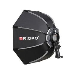 TRIOPO 90 سنتيمتر صور المثمن مصباح مظلة سوفت بوكس مع مقبض ل Godox V860II TT600 التصوير استوديو الملحقات لينة صندوق