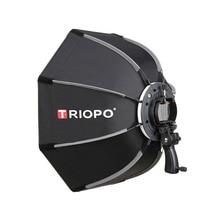 TRIOPO 90 см фотовосьмиугольный зонт светильник софтбокс с ручкой для Godox V860II TT600 аксессуары для фотостудии Мягкая коробка