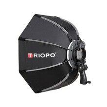 TRIOPO 90cm Photo Octagon Umbrella Light Softbox with handle For Godox V860II TT600 photography studio accessories soft Box