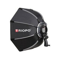 Triopo 90cm foto octógono guarda-chuva luz softbox com alça para godox v860ii tt600 estúdio de fotografia acessórios caixa macia