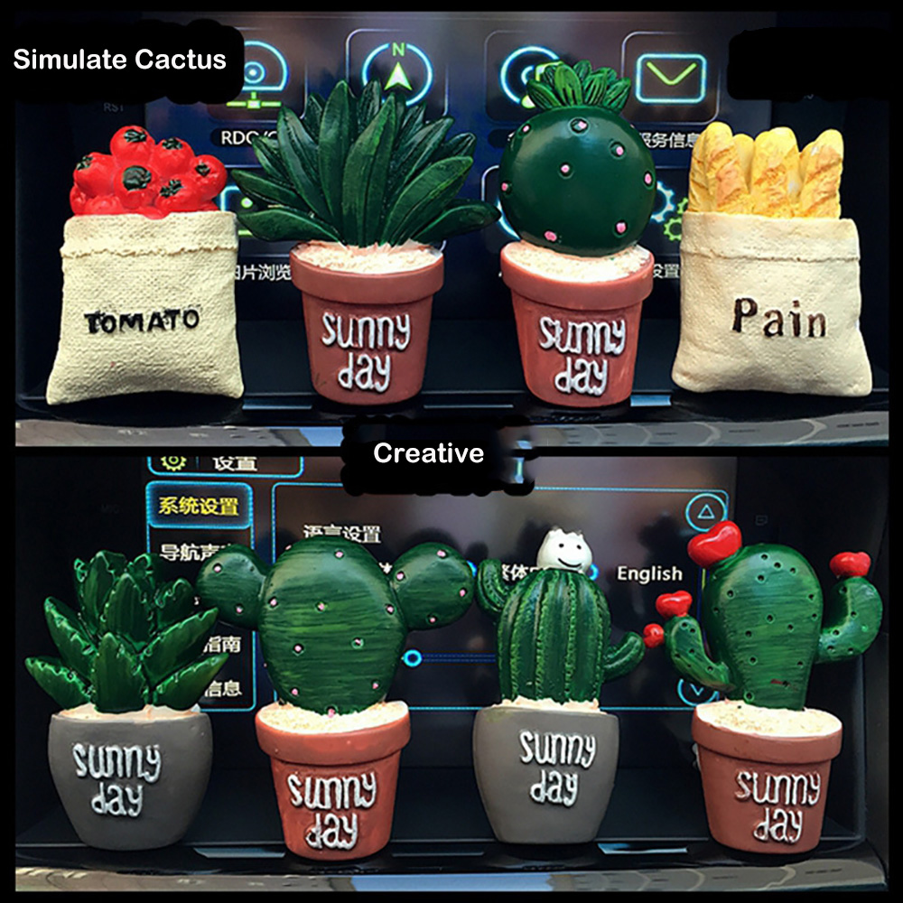 Resin Cactus Car Air Conditioning Vent Perfume Clip Creative Cute Air Freshener Fragrance Solid Balm Decoration Ornaments warmtoo practical car engine styling air freshener air conditioning perfume vent outlet brown for auto decoration air force