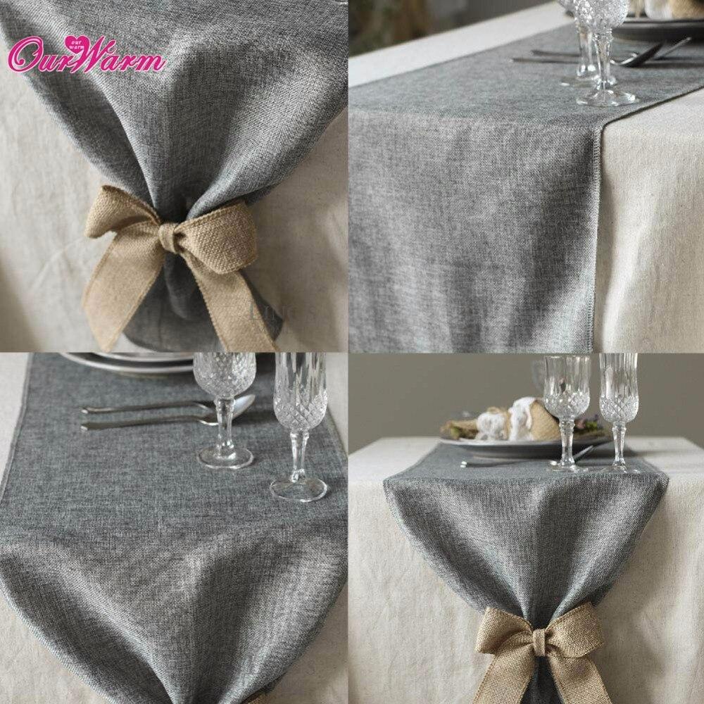 10 Stücke Khakigrau Natürliche Jute Tischläufer Für Hochzeit