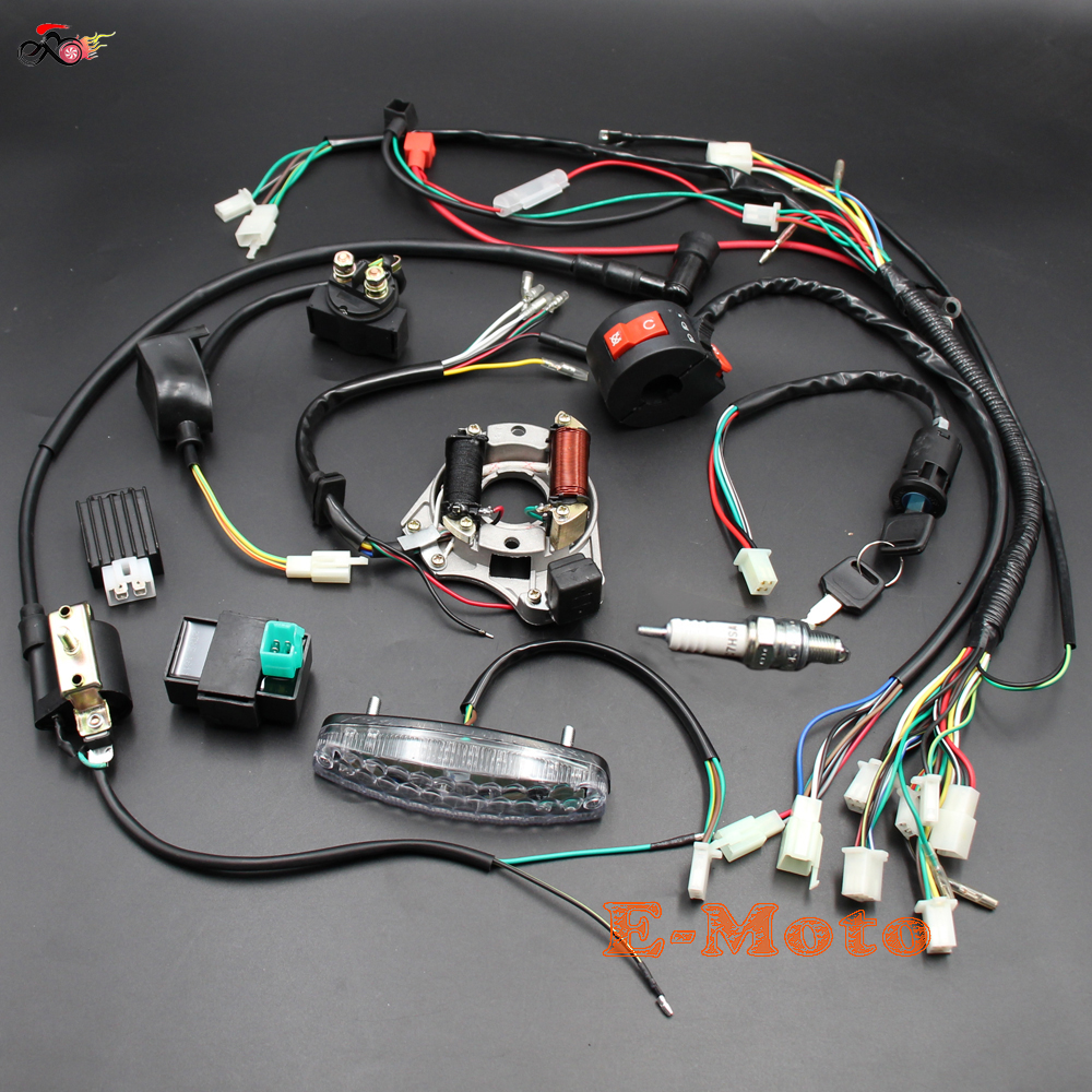 Complete Electrics Wiring Harness Coil Cdi Stator Tail Light Wireloom 50cc 110cc 125cc Atv Quad Bike 70cc 90cc Buggy Gokart
