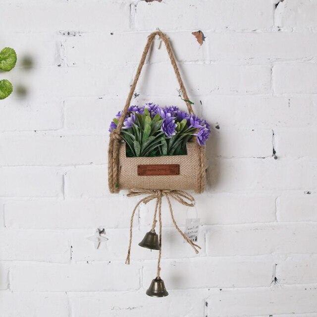 pays style intrieur pot culture artificielle arbre suspendus panier faux fleur bonsa plants darbres