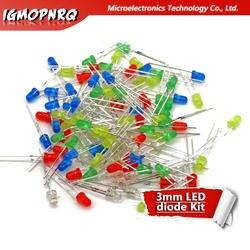 5 Цвет s * 20 шт. = 100 шт. 3 мм светодио дный диод свет Ассорти комплект красный зеленый цвет желтый, синий; размеры 34–43 белые Цвет свет светодио