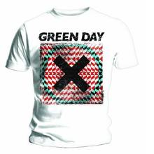 Graphic Clothing O-Neck Short Sleeve Green Day Xllusion T Shirts For Men