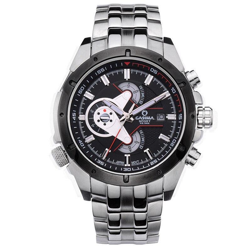 Reloj Hombre Luxury Brand CASIMA Men Sport Watches Multi-functional Wristwatch Fashion Stainless steel men's quartz watch montre