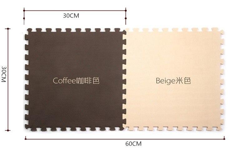 10 pçs 30*30cm café e bege cor