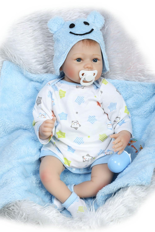 """22/""""Reborn Dolls Silicone Vinyl Newborn Dolls Child Gifts Toddler Baby Boy Girl"""