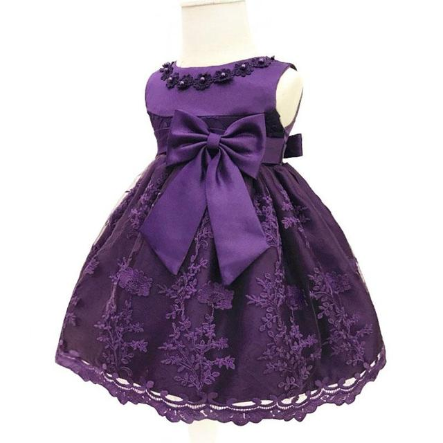 e818b7a19 Baby Girls Dress For Party Princess Dresses Infant Christening Gown ...
