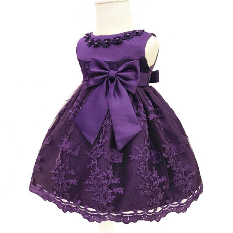 Bebé Niñas vestido princesa fiesta Vestidos bautizo infantil 1 año ...
