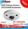 Dahua IPC-EBW8600 6MP Разрешением 3072X2048 Панорама 360 Градусов Fisheye Купольная PoE WDR электронной PTZ Сети Ip-камера поддержка SD карт