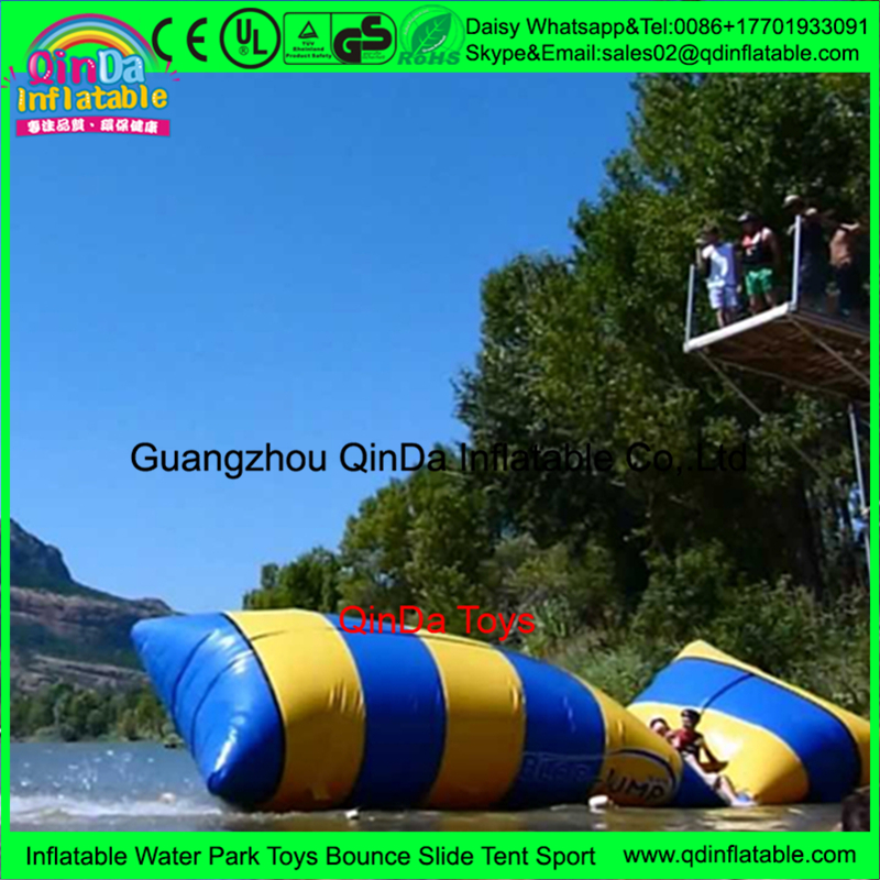 0.9mm PVC Inflatable water pillow jumping bag, Inflatable Blob Jumping Water trampoline, Water Catapult Blob
