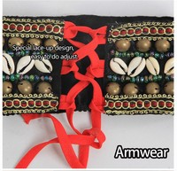 2015 Oriental New 1 Pair Tribal Armwear Handwear Handmade Professional Belly Dance Tribe Performing Accessory For