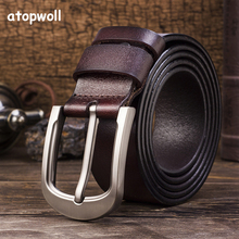 Genuine Leather Belt Men Trousers Luxury Business Designer Strap Brand Belts For Male Vintage High Quality Cowhide Cummerbunds