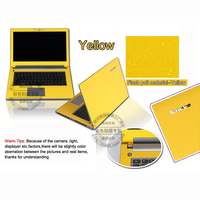 2015 New Fashion Pure Color Laptop Sticker Dust Proof Personality Skins Protective Decal Stickers For Lenovo