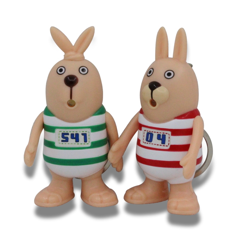 Classic Cartoon Usavich Keychain,Jailbreak Rabbit Led Keychain With Sound,Putin And Kirenenko Figure Keyrings