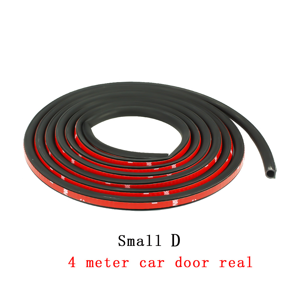 CNSPEED 4 Meter Small D Car Door Seal Rubber Strip Waterproof Trim Sound  Insulation Noise Sealant Strip Sound Proofing Sealing