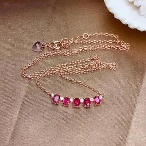 Image 5 - Einfache 925 Silber Natürlichen Rubin Halskette ist hoch empfohlen für Göttin Halskette