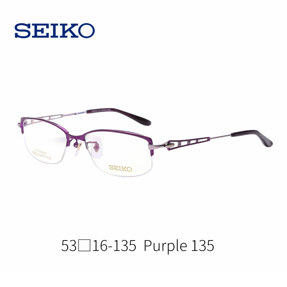 Spektakel Rezept Myopie Linsen Purple 135 Burgundy Rahmen Brille Für Optische 152 Seiko Frauen Kurzsichtig Reinem Titan dzTPdq