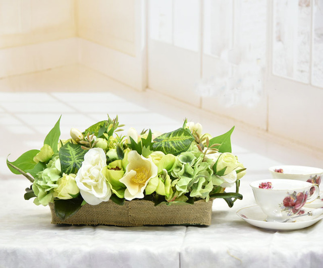 Handmade simulation table flower green artificial flowers wedding handmade simulation table flower green artificial flowers wedding supplies meeting room business office home table decoration junglespirit Choice Image