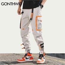 GONTHWID Multi Tasche Cargo Harem Jogger Pantaloni Degli Uomini di Hip Hop di Modo Casual Pista Pantaloni Streetwear Harajuku Pantaloni A Vita Bassa Pantaloni Della Tuta