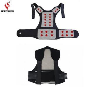 Image 1 - Turmalin samonagrzewający magnetoterapia pas pas wspierający Kneepad ramiona sweter kamizelka kamizelka ciepłe leczenie bólu pleców