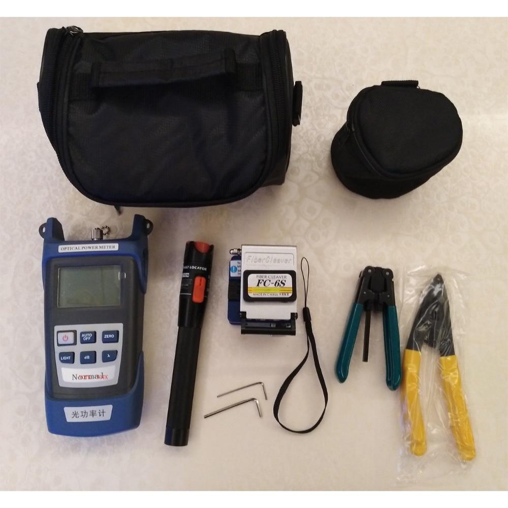10 em 1 Kit de Ferramentas De Fibra Óptica FTTH Fiber Cleaver, medidor de energia de fibra 10 Mw Visual Fault Locator testador de cabo descascador De Fios