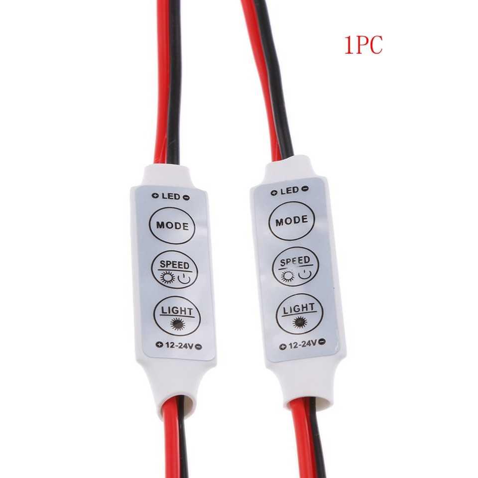 ضوء التبعي لمبات التبعي 3 مفاتيح البسيطة المراقب ديمر ل 3528/5050 SMD RGB واحد شريط ليد ملون ضوء ، DC 12V