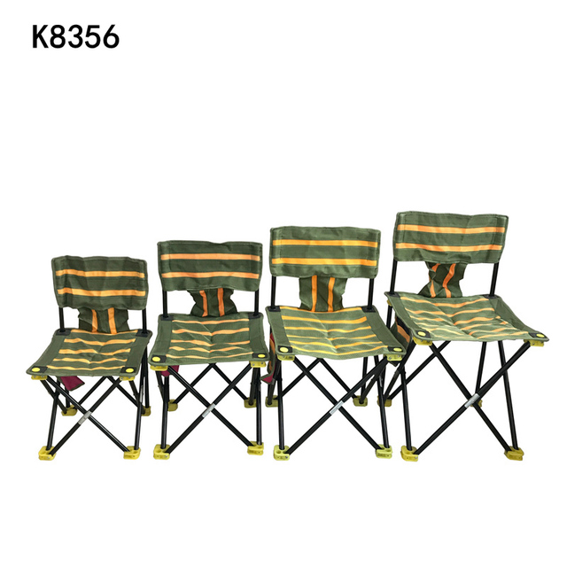 Green Fishing Chair Hardwood Folding Chairs K8356 High Quality Portable Floding 600d Fabric Outdoor Beach Camping With Yellow 4 Sizes For Chosen