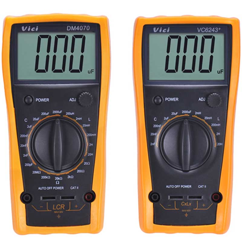 Vici VC6243+ high precision digital Capacitance meter LCR tester inductance meter 0-2000uF victor 6243 capacitance resistance inductance digital modern professional inductance capacitance meters lr meter ohmmeter