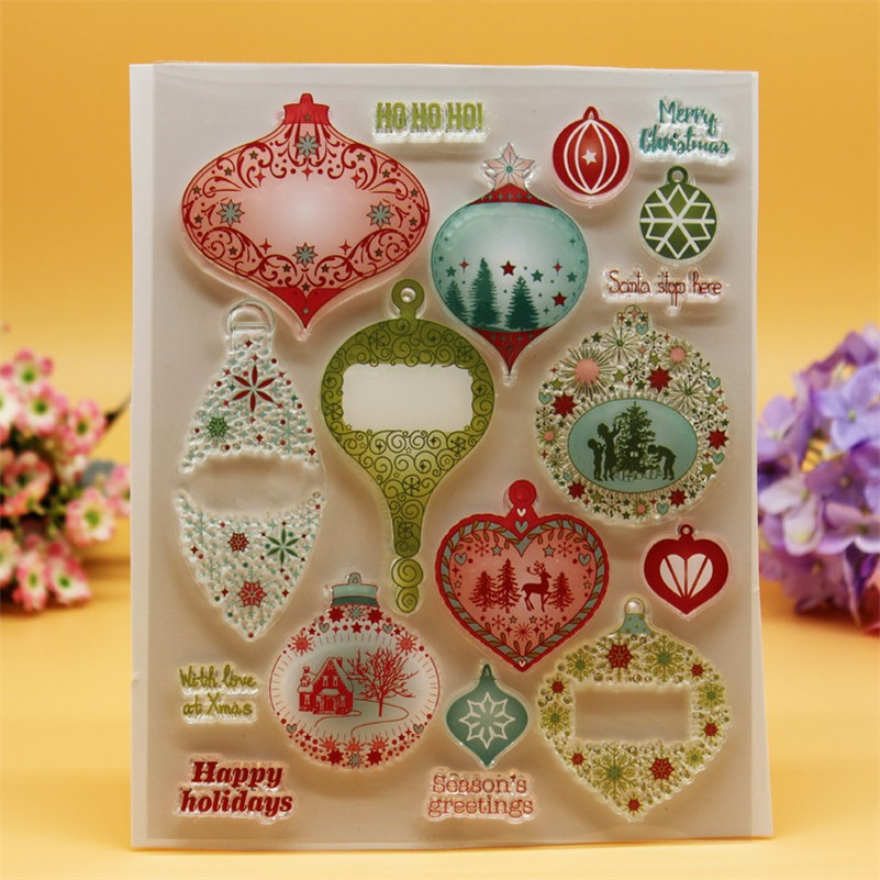 Happy holiday of christmas Transparent Clear Silicone Stamp Seal for DIY scrapbooking photo album clear stamp sheets CC-018 lovely animals and ballon design transparent clear silicone stamp for diy scrapbooking photo album clear stamp cl 278
