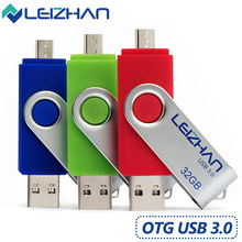 LEIZHAN 128 gb usb 3.0 flash drive android pendrive Ảnh Dính cho Galaxy S7/S6/S5/S4 /S3 64 gb 32 gb 16 gb 8 gb micro memory stick(China)