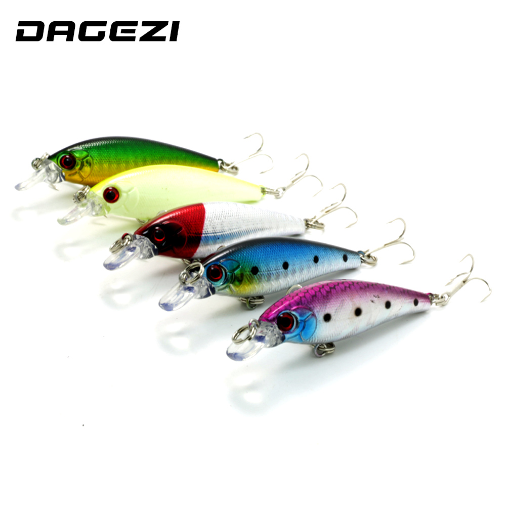 DAGEZI New 5pcs/lot Fishing lure hard bait fish 9CM 7G artificial baits minnow fishing wobbler  pesca free shipping купить
