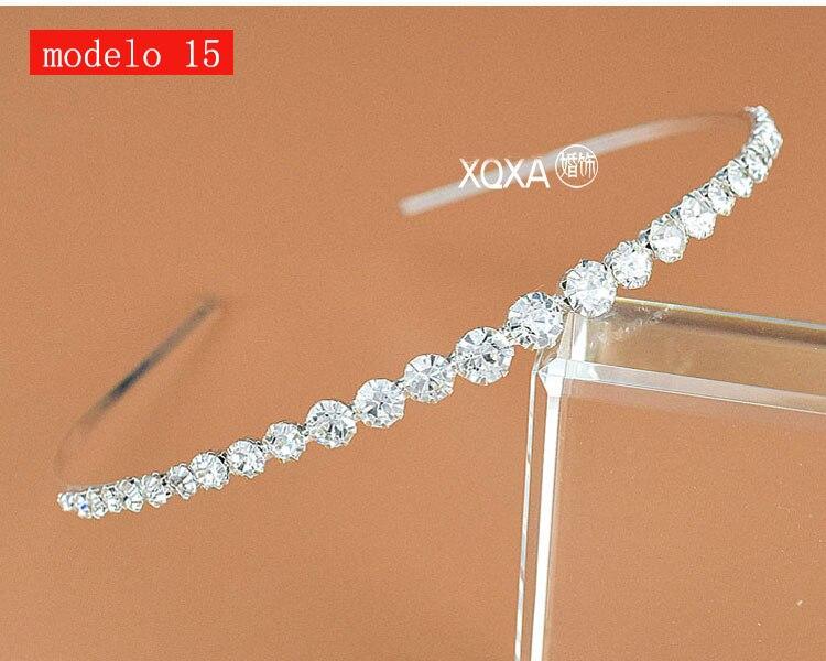 Moda feminina strass cristal cabeca bandagem no cabeca coroa Tiara de noiva de cabelo acessorios (5)