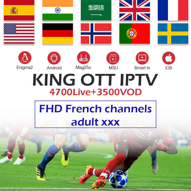 Gotit iptv подписка для S905 Android tv box 7,1 французский испанско-португальский арабский итальянский ip tv 4700 Live + 3500 vod взрослый платный ТВ-бокс