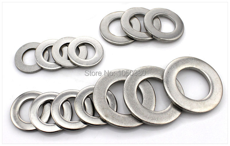 DIN125 M4mm 304 stainless steel A2 Gaskets Washers Flat Ring Washers ...