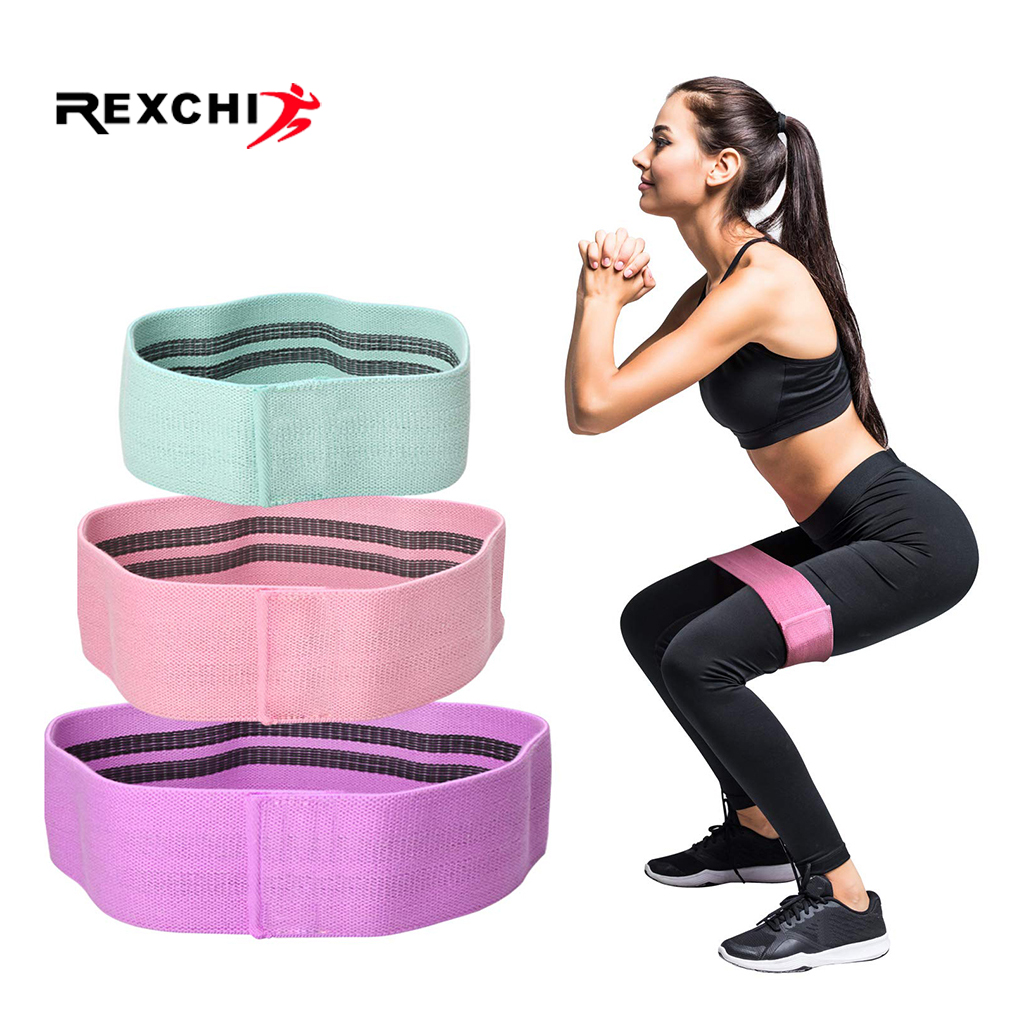 REXCHI Yoga Stretch Resistance Bands for Legs and Butt Anti Slip Elastic Fitness Bands Bodybulding Exercise Workout Equipment