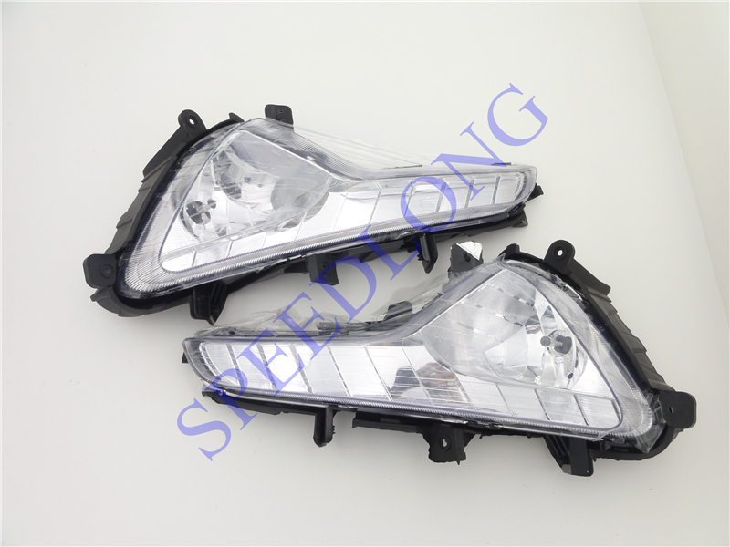 2 Pcs/Pair Without bulb front fog lights driving lamp fog lamps for KIA Sportage 2014-2015 1pcs new oem rh front bumper fog lamp fog light for kia sportage 2014 2015